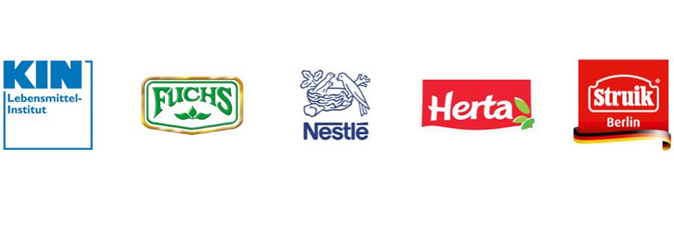 Referenzen Lemnitzer Food Consulting: Lebensmittelinstitut KIN e.V., Fuchs Gewürze GmbH, Nestlé Deutschland AG, Herta GmbH, Struik Foods Berlin